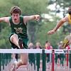 Nashoba sophomore Keenan Doyle compete in the 100 meter hurdles at their meet on Wednesday. SENTINEL & ENTERPRISE/ JOHN LOVE