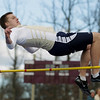 Record-Eagle/Keith King<br /> Traverse City St. Francis' Connor Archer competes in the high jump Wednesday, April 11, 2012 at Traverse City Central High School.