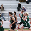 Record-Eagle/Keith King<br /> A 100-meter dash heat takes place Wednesday, April 11, 2012 at Traverse City Central High School.