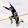 Record-Eagle/Keith King<br /> Traverse City West's Tyler Shaffer clears the bar during the pole vault Wednesday, April 11, 2012 at Traverse City Central High School.