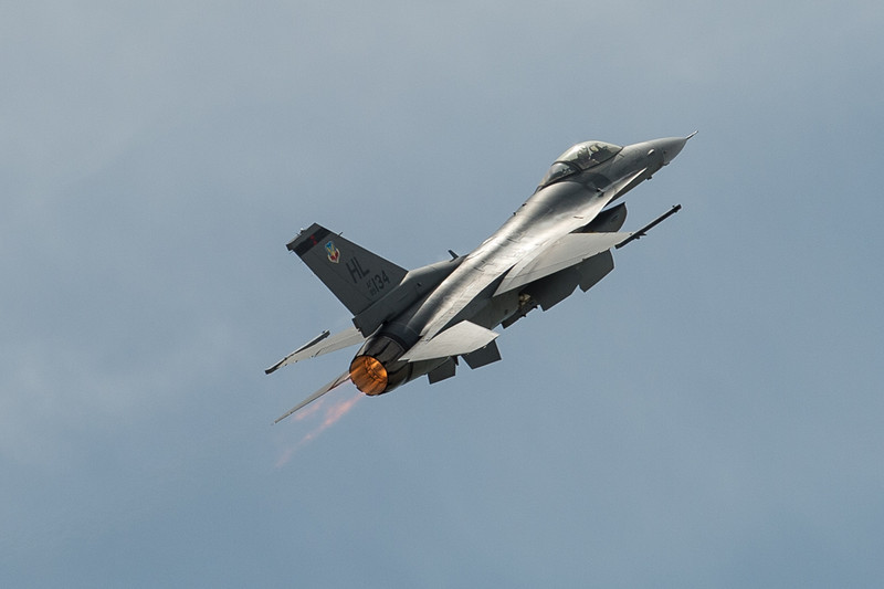 Probably my favorite image of the bunch...F16 on afterburner.