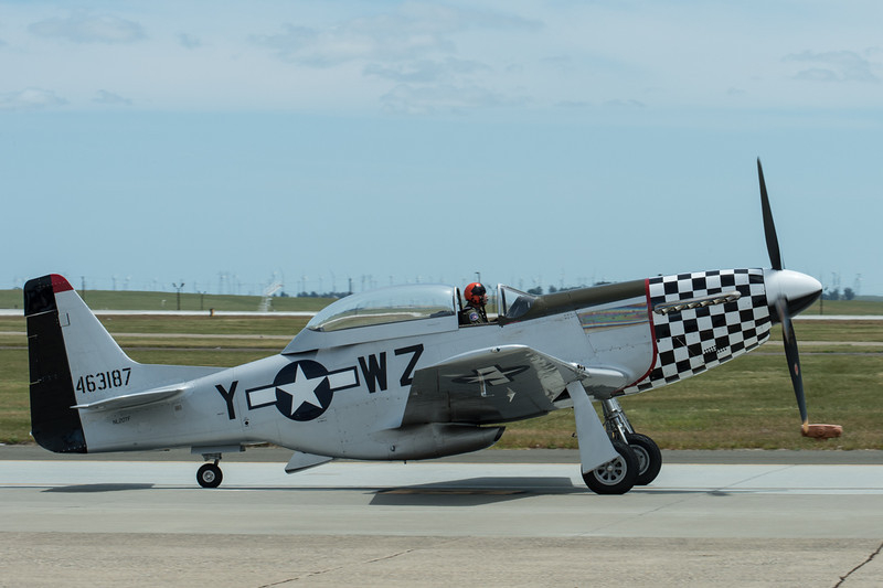 Closeup of P51 Mustang on the tarmac.