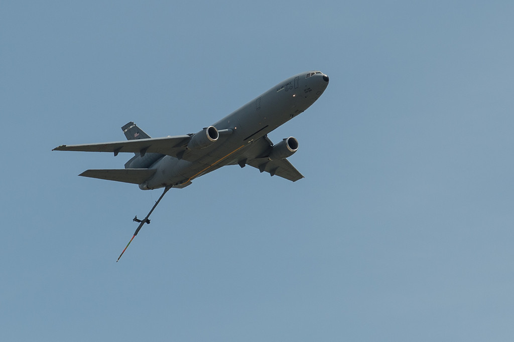 DC10 refueler doing a fly by..