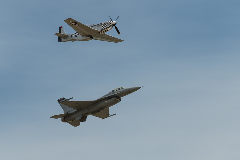 Really cool to see these flying together. They did a couple of laps around the air base.