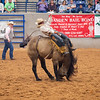 Will Lowe from Canyon, TX scores an 84 on his bronc ride at the Amarillo Tri State Fair and Rodeo closing night. September 22, 2018 [Shaie Williams for Amarillo Globe News]