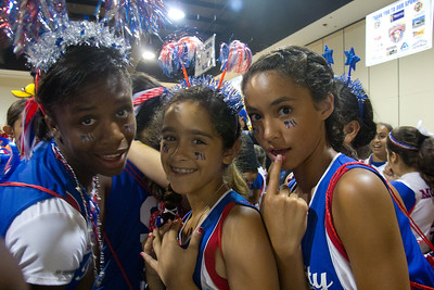 Nia, Gabby, and Kayla at the parade