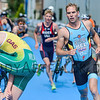 Simon De Cuyper from Belgium at the 2016 Holten ETU Sprint Triathlon Premium European Cup, held in Holten the Netherlands on Saturday July the 2nd 2016.