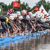 Mens Elite ETU Triathlon Starts with the Swim in Holten the Netherlands on 2nd July 2016.