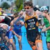 JorikVan Egdom from the Netherlands at the 2016 Holten ETU Sprint Triathlon Premium European Cup, held in Holten the Netherlands on Saturday July the 2nd 2016.