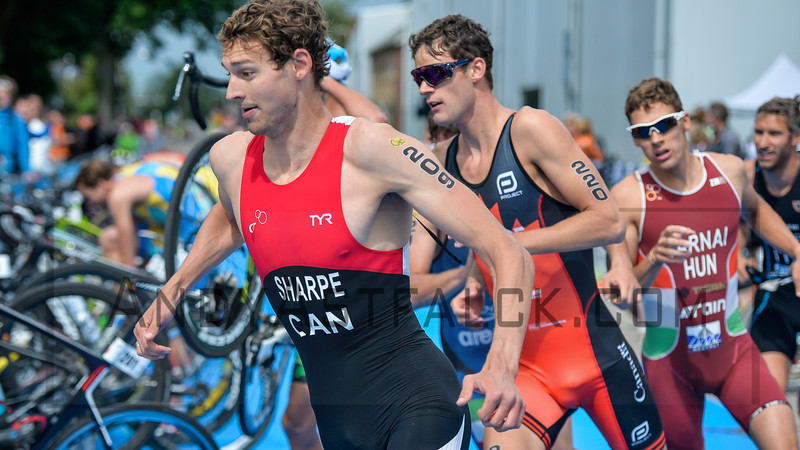Matthew Sharp from Canada at the 2016 Holten ETU Sprint Triathlon Premium European Cup, held in Holten the Netherlands on Saturday July the 2nd 2016.