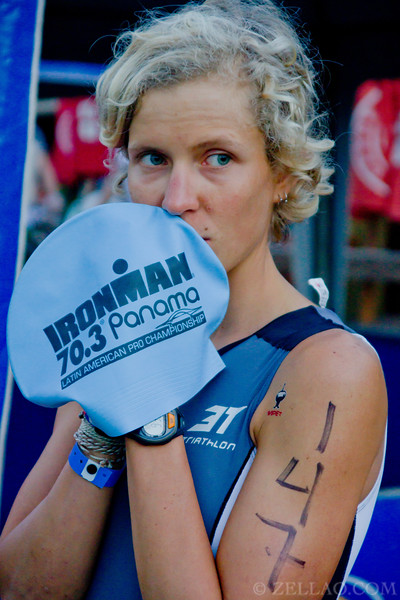 Ina Oestroem from Brazil at Ironman 70.3, Panama 2013
