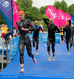 Alistair Brownlee emerges from the swim stage