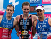 Fernando Alarza (2nd), Alistair Brownlee (1st) and Vincent Luis (3rd)
