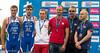 Medallists in the P5 Category: Arnaud Grandjean (2nd), Lukasz Wietecki (1st) and Iain Dawson (3rd)