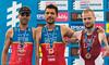 P3 medallists: Daniel Molina (2nd) Alejandro Sanchez Palomero (1st) and Rihards Sprincis (3rd)