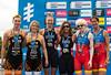 P5 Medallists: Joleen Hakker (2nd), Melissa Reid (1st) and Susana Rodriguez (3rd)