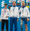 P2 Medallists: Oswald Kydd (2nd), Giorgio Vanerio (1st) and Michele Ferrarin (3rd)