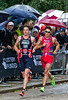Jonny Brownlee (GBR) - 2nd and Javier Gomez (ESP) - 1st run stride for stride in a classic race
