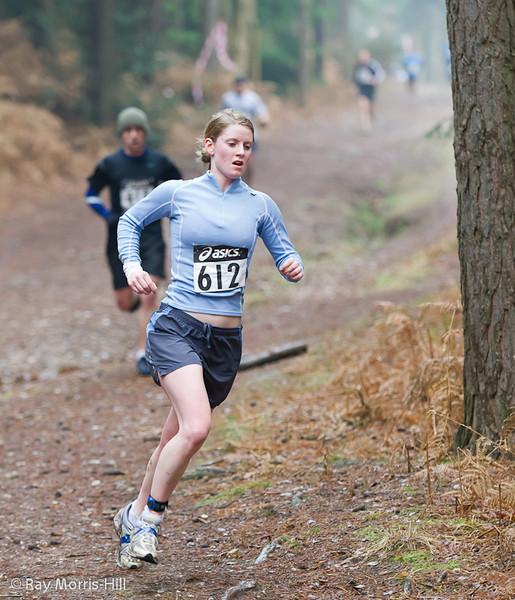 Jennifer Heaney, 3rd in the Women's Run event