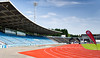 The Athletics Stadium at the Crystal Palace National Sports Centre on the morning of 19 August 2012.  It's a beautiful day.