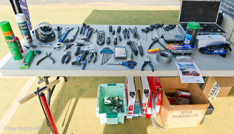 All sorts of tools to solve every bicycle malfunction