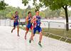 Bronze Medal winner Jonathan Brownlee (GBR) ahead of Javier Gomez (ESP) and David Hauss (FRA)