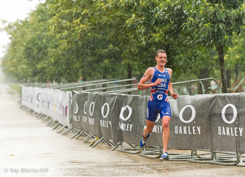 Gold Medal winner Alistair Brownlee (GBR) with a big lead