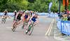Gold Medal winner Alistair Brownlee (GBR) leads into the corner
