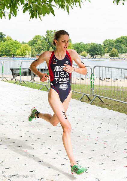 Silver Medal winner Gwen Jorgensen (USA) on the final lap
