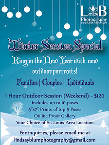 Check out my winter portrait special! $30 discount for the YMCA Beginner Tri group!