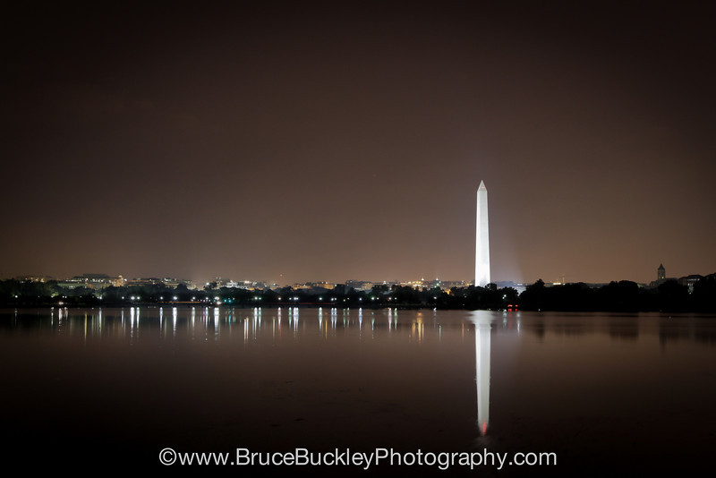 Dawn over the Reflecting Pool in Potomac Park, site of the 2011 Nations Triathlon