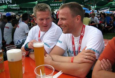 Swimmer Stefan and biker Dirk.
