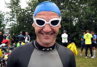 Swimmer Uwe in good mood shortly before the start of the race.