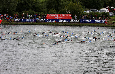 8.40 am, July 12th, 2009: Start of race for the 2nd group of relays, Uwe must be somewhere....