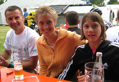 Swimmer Uwe and his family.