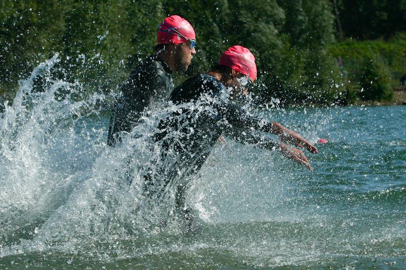 Swim start at Triathlon Mechelen