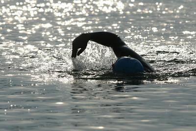 Evening swim in Mechelen