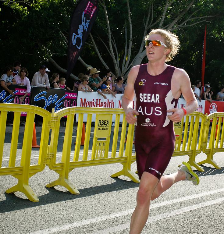 """James Seear - 2008 Noosa Triathlon, Noosa Heads, Sunshine Coast, Queensland, Australia. Photos by Des Thureson - <a href=""""http://disci.smugmug.com"""">http://disci.smugmug.com</a>"""