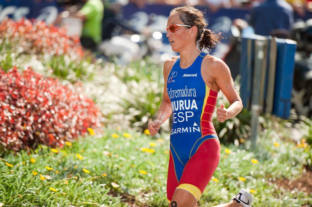 """8th place-getter Ainhoa Murua - 2010 Mooloolaba Women's ITU World Cup Triathlon, 28 March 2010. Photos by Des Thureson: <a href=""""http://disci.smugmug.com"""">http://disci.smugmug.com</a>"""