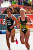 "Chie Nakashima, Courtney Gilfillan - 2010 Mooloolaba Women's ITU World Cup Triathlon, 28 March 2010. Photos by Des Thureson: <a href=""http://disci.smugmug.com"">http://disci.smugmug.com</a>"