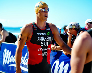 Matthias  Annaheim - 2010 Mooloolaba Men's ITU World Cup Triathlon, Sunshine Coast, Queensland, Australia; 27 March 2010. Photos by Des Thureson.