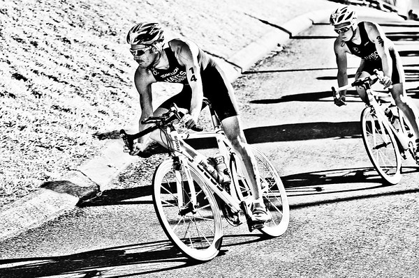 "Alternate Processing: ""X-equals + LIDF - Hardcore Acros""  - Stuart Hayes - 2010 Mooloolaba Men's ITU World Cup Triathlon, Sunshine Coast, Queensland, Australia; 27 March 2010. Photos by Des Thureson."