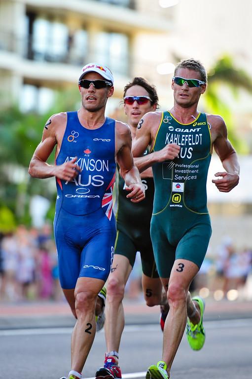 """Dan Wilson, Courtney Atkinson & Brad Kahlefeldt - Mooloolaba Men's ITU World Cup Triathlon, 27 March 2010 - <a href=""""http://www.usmevents.com.au/mooltri/media_270310-4.html"""">http://www.usmevents.com.au/mooltri/media_270310-4.html</a>"""