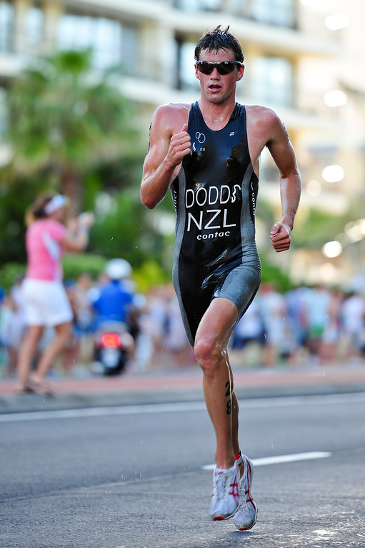 Tony Dodds - 2010 Mooloolaba Men's ITU World Cup Triathlon, Sunshine Coast, Queensland, Australia; 27 March 2010. Photos by Des Thureson.