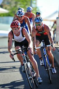 Michael Poole - 2010 Mooloolaba Men's ITU World Cup Triathlon, Sunshine Coast, Queensland, Australia; 27 March 2010. Photos by Des Thureson.
