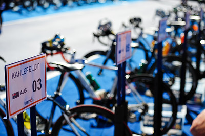 Transition Area - Mooloolaba Men's ITU World Cup Triathlon, 27 March 2010
