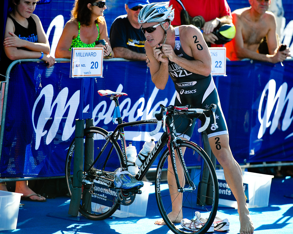 Callum Millward - 2010 Mooloolaba Men's ITU World Cup Triathlon, Sunshine Coast, Queensland, Australia; 27 March 2010. Photos by Des Thureson.