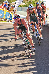 Sam Appleton, Brad Kahlefeldt, Courtney Atkinson, Dan Wilson - Mooloolaba Men's ITU World Cup Triathlon, 27 March 2010.