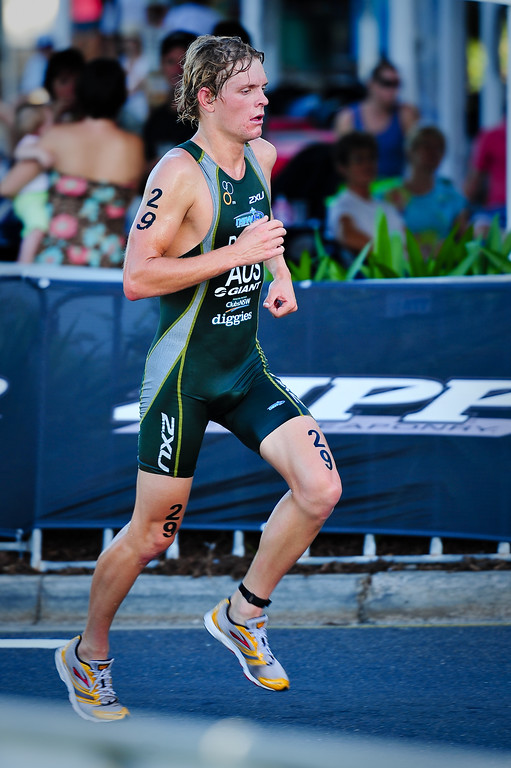 Shane Barrie - 2010 Mooloolaba Men's ITU World Cup Triathlon, Sunshine Coast, Queensland, Australia; 27 March 2010. Photos by Des Thureson.