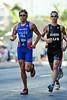 David Hauss, Josh McHugh - 2010 Mooloolaba Men's ITU World Cup Triathlon, Sunshine Coast, Queensland, Australia; 27 March 2010. Photos by Des Thureson.